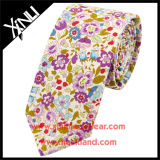 Fábrica da China por atacado Floral Custom Print Cotton Silk Necktie