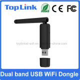 Top-GS07 Ralink Rt5572 2.4G/5g Dual a sustentação sem fio Ap macio do cartão de rede do USB WiFi da faixa