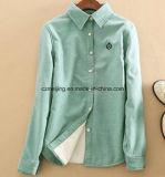 Chemise épaisse ordinaire verte du `S de femmes