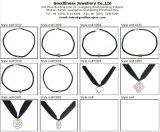 Sterlingsilber-Feder-Halskette der Qualitäts-und Form-Schmucksache-925 (N6593)