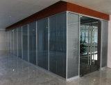 Cloison de séparation en verre en aluminium en bois de bureau moderne (NS-NW011)