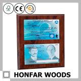 Подгонянная рамка сертификата картинной рамки Brown деревянная весь размер