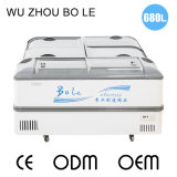 Congelador combinado do refrigerador para o supermercado (3 partes) na mais baixa temperatura