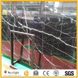Marmo nero naturale poco costoso della Cina Nero Marquina/lastre di pietra