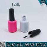 12 ml-rundes leeres UVgel-Nagellack-Öl-Glasflasche mit schwarzer Kappe
