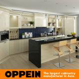 Kasten van de Keuken van de Lak van Oppein de Moderne Lichtgele Houten (OP16-L12)