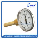 Termometro dell'acqua calda - termometro posteriore del supporto - termometro bimetallico del tubo