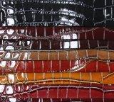Популярная яркая кожа PVC PU Croco для мешка (W156)