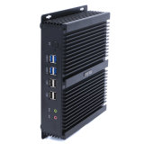 COM dupla Intel I3-4010u Barebone do PC 6 do NIC do fator de formulários pequeno mini