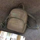 Zaino di cuoio reale per il sacchetto esterno casuale Emg4961 del coccodrillo delle donne