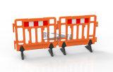 道路の安全HDPEのプラスチック携帯用バリケード