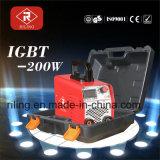 플라스틱 상자 (IGBT-200W)를 가진 MMA IGBT 용접 기계