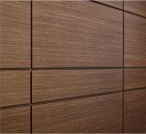Olhar de madeira como o painel de alumínio para a decoração interior da alameda de compra