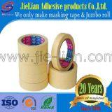 Fábrica adhesiva amarilla de China de la cinta adhesiva del papel de Crepe