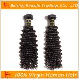 El pelo humano lía el pelo rizado profundo de la Virgen de la armadura