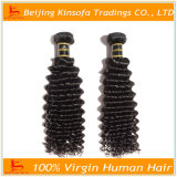 I capelli umani impacchettano i capelli ricci profondi del Virgin del tessuto