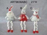 """"""" muchacho de la decoración del hogar de la Navidad de H 21 y muñeco de nieve de la muchacha"""