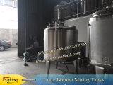 réservoir de mélange de l'acier inoxydable 500L avec la jupe de bosse