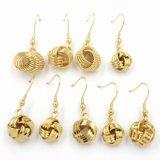 حارّ عمليّة بيع فاخر [18ك] نوع ذهب مجوهرات مستديرة دعائم حلق