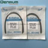 Acero inoxidable ortodóntico dental de la alta calidad de Denrum redondo/alambres del arco del rectángulo