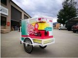 Bicyclette de vente congelée par glace électrique de boissons de panneau solaire avec les collants mignons
