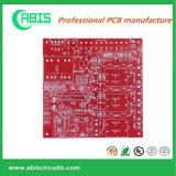 Красная напечатанная доска проводки, цепи PCB