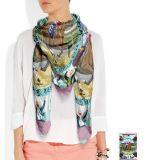 Digital gedruckten Twill-Silk Schal von China kundenspezifisch anfertigen