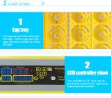 Covata le incubatrici automatiche e del Hatcher dell'uovo di quaglie delle uova differenti
