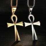 Juwelen van de Halsband van de Tegenhanger van het Roestvrij staal van het Titanium van de Ontwerper van de manier de Godsdienstige Dwars