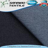 Cotone del poliestere 5% Spamdex della saia 15% dell'indaco che lavora a maglia il tessuto lavorato a maglia del denim per i pantaloni
