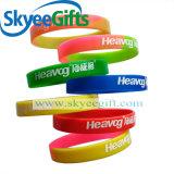 Wristbands segmentati irregolari del silicone per la promozione