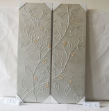 Pittura d'attaccatura della foresta del reticolo della tela di canapa decorativa d'argento della casa