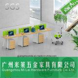 Muebles de oficinas del escritorio recto popular barato de la oficina conceptora con la pierna del hardware