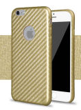 Caja suave de la PU de la fibra del carbón para iPhone7