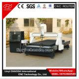 Baixa linha central 4 custada máquina de gravura de madeira do CNC com dispositivo giratório