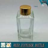 botella de cristal del difusor de lámina rectangular 100ml con el casquillo del oro