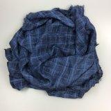 Echarpe 100% coton à rayures, châle d'hiver pour femmes Accessoires de mode