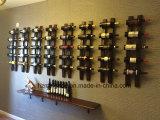 La visualizzazione di legno fissata al muro della mobilia della casa della cremagliera di memoria del vino di Newwest