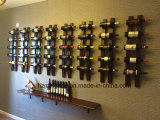 サテンの黒いハングのワイン・ボトルのホールダーの壁に取り付けられたワインラック