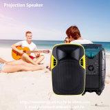12 pouces de PRO haut-parleur sonore en plastique de Bluetooth avec le projecteur