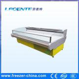 refrigerador superior aberto do indicador da carne de 6FT com cortina da noite