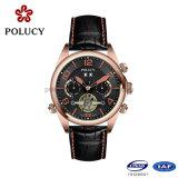 Luxo feito sob encomenda dos homens dos relógios de ouro de Rosa do fabricante de China automático