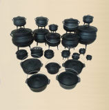 3つの足または大がまが付いている#3エナメルの鋳鉄のPotjieの鍋