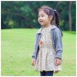ばねまたは秋編むか、または編まれた女の子の着るか、または衣服Phoebeeの方法