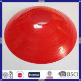 Cones feitos sob encomenda baratos vermelhos plásticos do disco do treinamento do futebol do logotipo