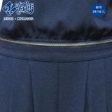Perspectiva negro atractivo superior-inferior-dos de combinación de la cremallera del botón delgado traje-vestido