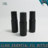[5مل] لف سوداء زجاجيّة على زجاجة مع [ستينلسّ ستيل] [رولّر بلّ] زجاجة لأنّ [إسّنتيل ويل]