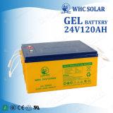 Batterie profonde solaire de cycle de la batterie 24V 120ah d'excellent débit profond