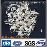 Fibra de alta resistencia de los PP del monofilamento para el concreto