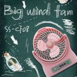 Vente en gros Big Wind Ventilateur ABS Plastique Ventilateur Rose DC 5V Batterie Rechargeable Ventilateur